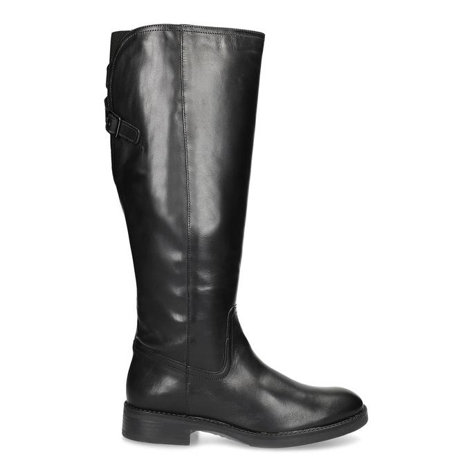 Kožené čierne čižmy s prackou bata, čierna, 594-6678 - 19