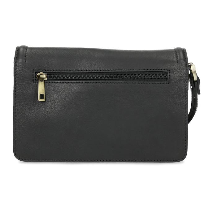Čierna pánska kožená taška do ruky bata, čierna, 964-6315 - 16