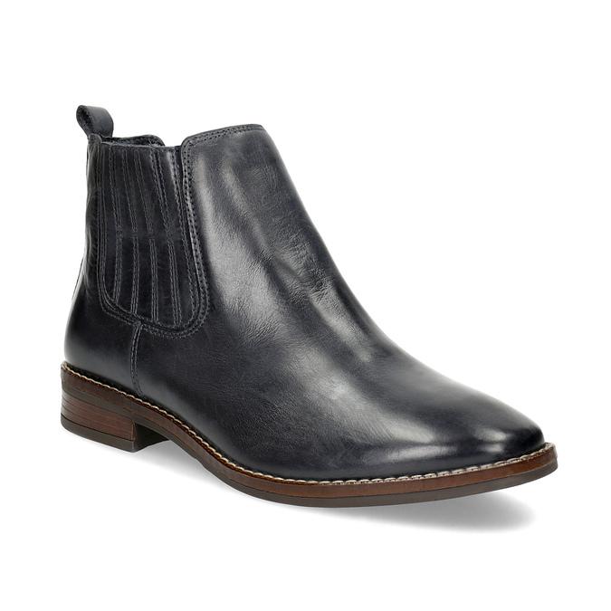 Modrá kožená dámska obuv v Chelsea štýle bata, modrá, 594-9682 - 13