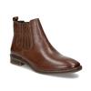 Kožená dámska obuv v Chelsea štýle bata, hnedá, 594-4682 - 13