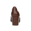 Hnedé kožené lodičky s kovovou prackou rockport, hnedá, 716-3085 - 15