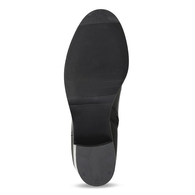 Kožené čierne čižmy na stabilnom podpätku bata, čierna, 694-6668 - 18