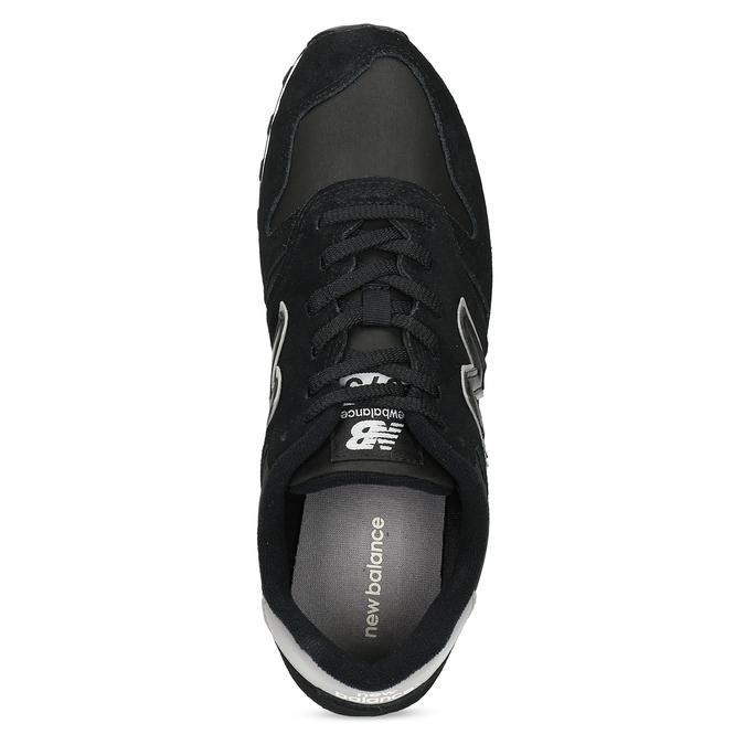 Čierne pánske tenisky z brúsenej kože new-balance, čierna, 803-6137 - 17