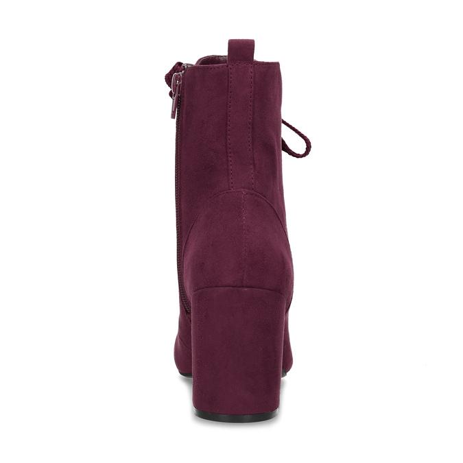 Vínové dámske čižmy so šnurovaním bata-red-label, červená, 799-5633 - 15