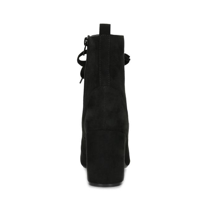 Dámske čierne čižmy so šnurovaním bata-red-label, čierna, 799-6633 - 15