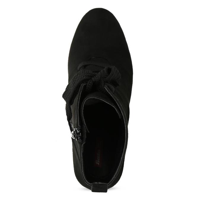 Dámske čierne čižmy so šnurovaním bata-red-label, čierna, 799-6633 - 17