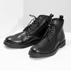 Čierna kožená členková pánska obuv bata, čierna, 894-6721 - 16