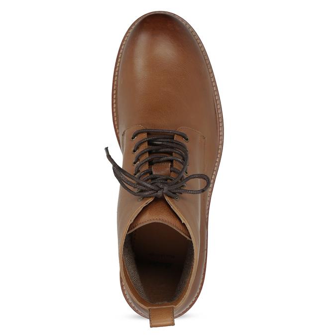 Hnedá kožená členková pánska obuv bata, hnedá, 896-3721 - 17