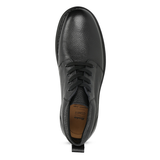 Pánska kožená členková obuv comfit, čierna, 894-6701 - 17