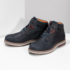 Kožená členková pánska zimná obuv bata, modrá, 896-9716 - 16