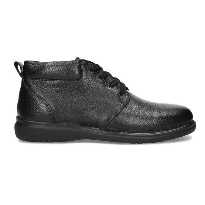 Pánska kožená členková obuv comfit, čierna, 894-6701 - 19