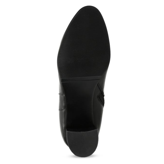 Čierne kožené čižmy s prešitím bata, čierna, 694-6639 - 18