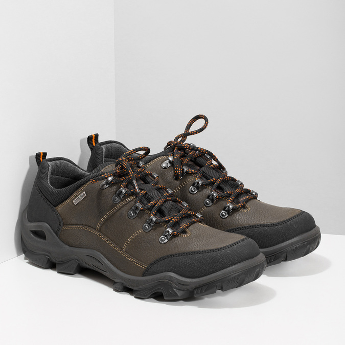 Pánska kožená obuv s masívnou podrážkou weinbrenner, hnedá, 846-4806 - 26
