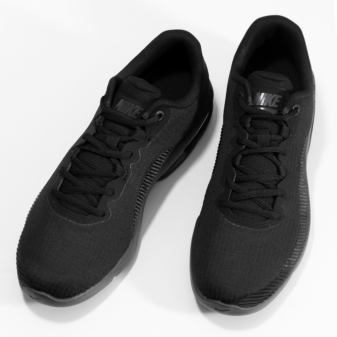 Pánske čierne tenisky s výraznou podrážkou nike, čierna, 809-6166 - 16