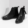 Kožená dámska členková obuv so strapcami flexible, čierna, 593-6195 - 16
