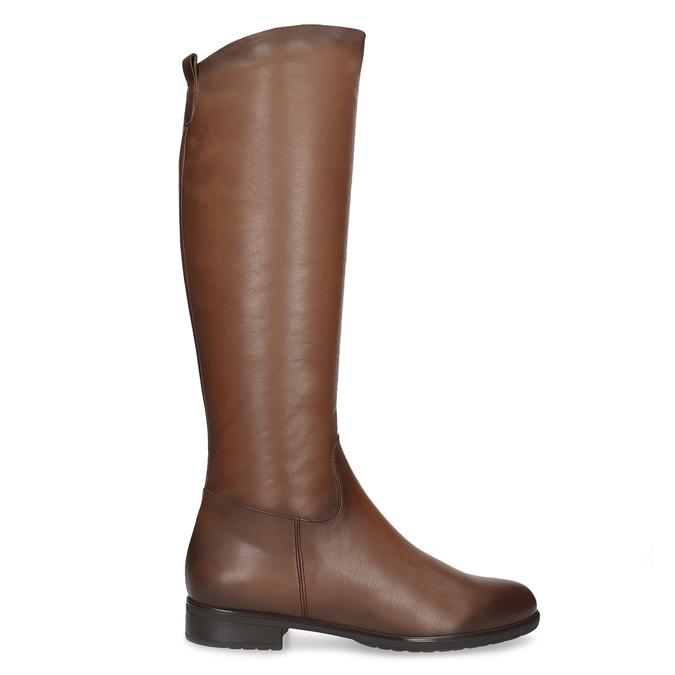 Kožené hnedé dámske čižmy bata, hnedá, 594-4675 - 19