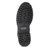 Pánska kožená členková obuv s prešitím weinbrenner, čierna, 896-6733 - 18