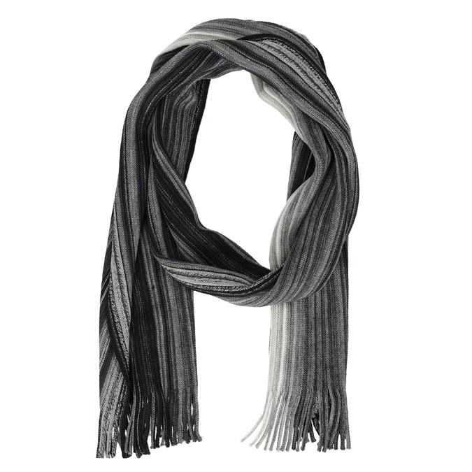 Pánsky šedý pruhovaný šál bata, šedá, 909-2694 - 26