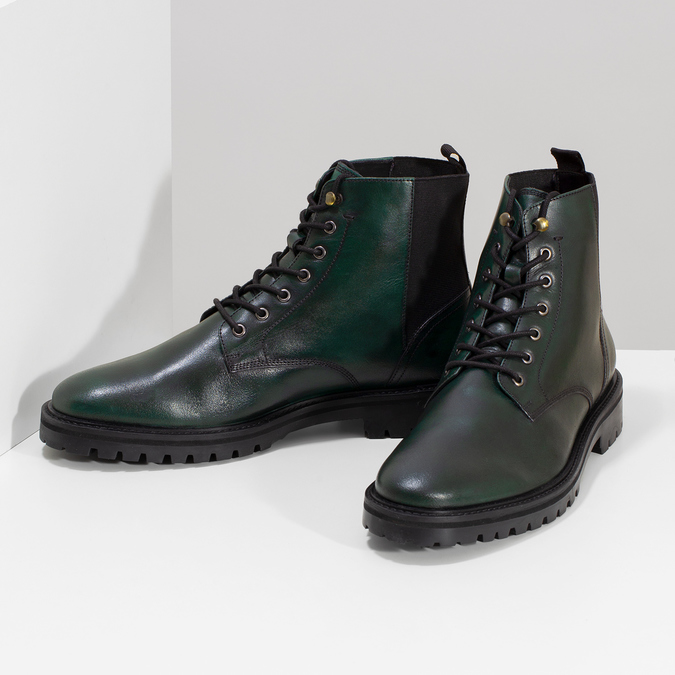 Pánska členková obuv tmavozelená bata, zelená, 896-7722 - 16