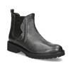 Kožená dámska Chelsea obuv s kovovými cvočkami bata, šedá, 596-9734 - 13