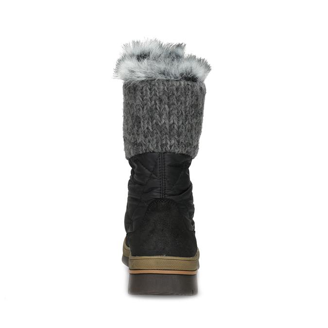 Dámska čierna zimná obuv s kožúškom weinbrenner, čierna, 596-6755 - 15