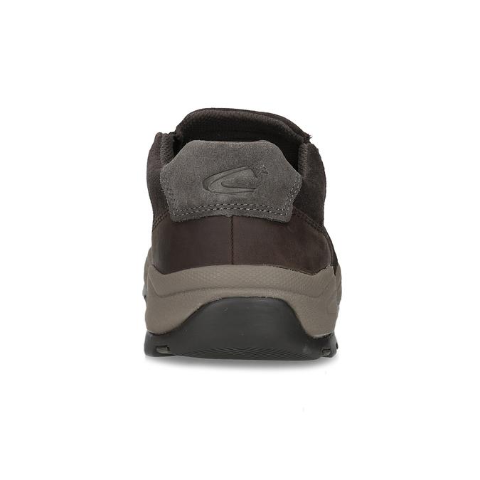 Pánska hnedá kožená obuv s pružením camel-active, hnedá, 826-4091 - 15