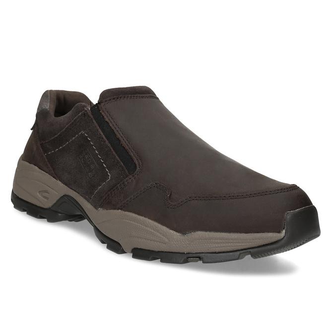 Pánska hnedá kožená obuv s pružením camel-active, hnedá, 826-4091 - 13