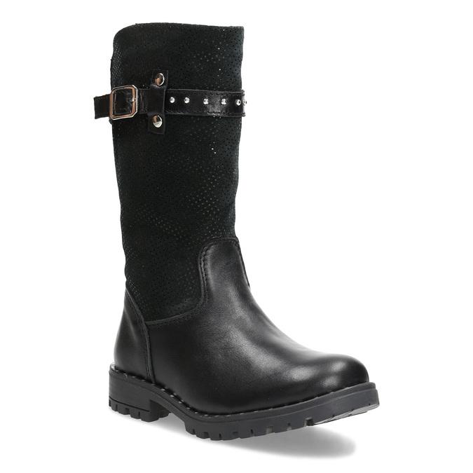 Mini B Dievčenské kožené zimné čižmy s prackou - Zimná obuv  580c55df675