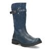 Dievčenské kožené modré zimné čižmy mini-b, modrá, 394-9200 - 13
