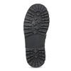Kožené detské čižmy s prackou mini-b, čierna, 394-6200 - 18