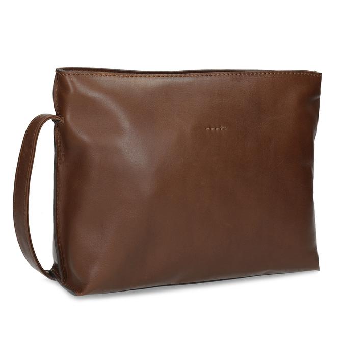 Kožená hnedá crossbody kabelka bata, hnedá, 964-3605 - 13