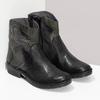 Kožená členková obuv s cvočkami bata, čierna, 596-6742 - 26