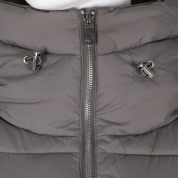 Dámska šedá prešívaná bunda s golierom bata, béžová, 979-8344 - 16