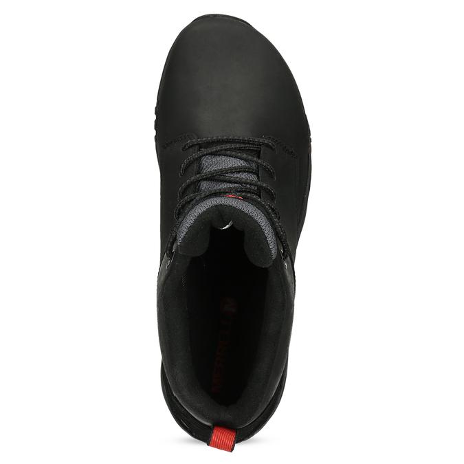 Kožená pánska členková obuv outdoorová merrell, čierna, 806-6102 - 17