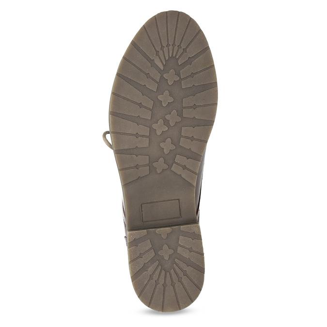 Kožená dámska členková obuv so zateplením bata, červená, 596-5702 - 18