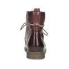 Kožená dámska členková obuv so zateplením bata, červená, 596-5702 - 15