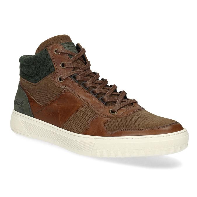 Hnedé členkové kožené tenisky bata, hnedá, 846-3722 - 13