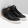 Čierne členkové pánske tenisky bata, čierna, 846-6722 - 26