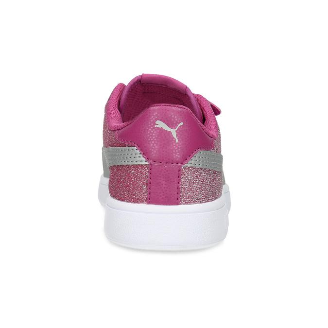 Ružové detské tenisky na suchý zips puma, ružová, 301-5224 - 15