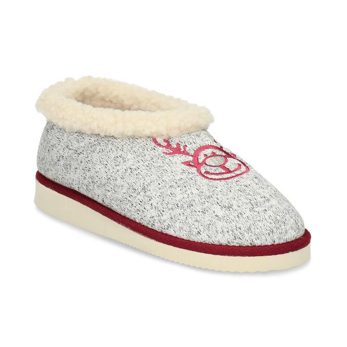 Dámska domáca obuv so zateplením bata, šedá, 579-2640 - 13