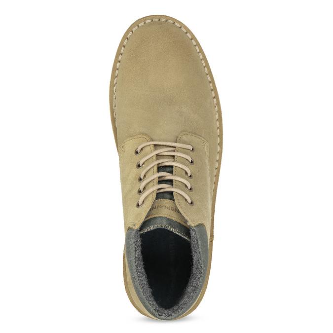 Kožená béžová pánska členková obuv weinbrenner, béžová, 896-8630 - 17