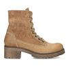 Dámska hnedá kožená členková obuv weinbrenner, hnedá, 696-3668 - 19