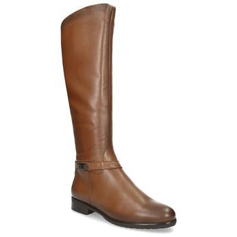 Hnedé kožené dámske čižmy bata, hnedá, 594-4676 - 13