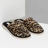 Dámske domáce nazuváky s leopardím vzorom bata, hnedá, 579-8639 - 26