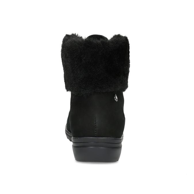Členková dámska kožená obuv comfit, čierna, 596-6711 - 15