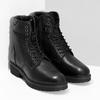 Dámska čierna kožená členková obuv bata, čierna, 596-6722 - 26