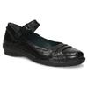 Kožené čierne baleríny s remienkom bata, čierna, 526-6664 - 13