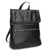Kožený čierny batôžtek bata, čierna, 964-6607 - 13