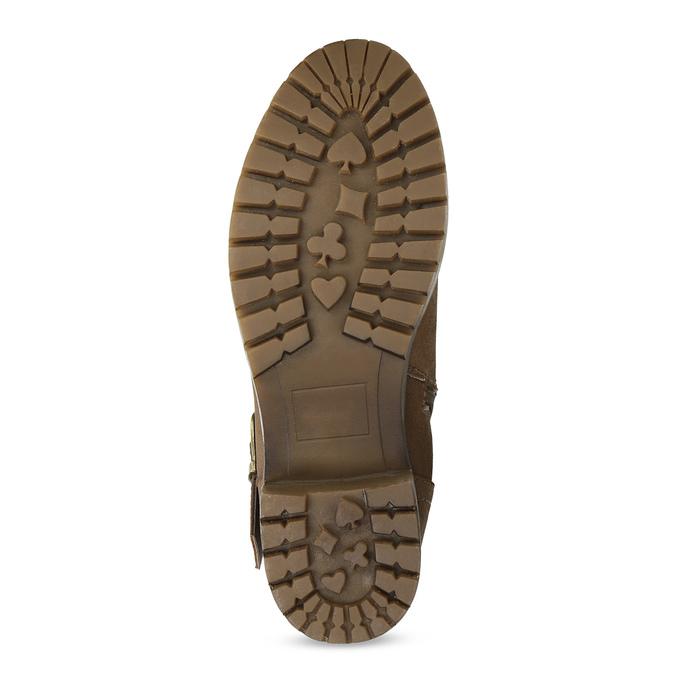 Dámske hnedé čižmy s prackami bata, hnedá, 691-4643 - 18