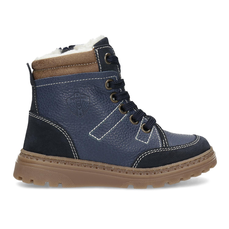 4f5d84cb2 ... Detské modré kožené zimné topánky mini-b, modrá, 294-9601 - 19 ...